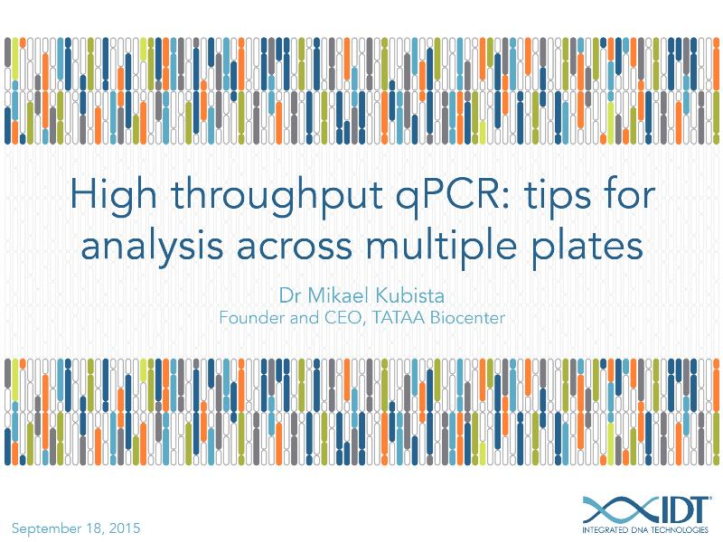 High-throughputqPCRTipsforanalysisacrossmultipleplates